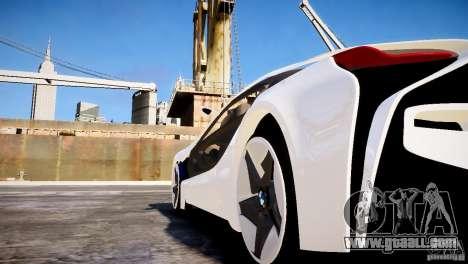 BMW Vision Efficient Dynamics 2012 for GTA 4 back left view