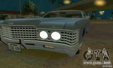 Mercury Monterey 1972 for GTA San Andreas back left view