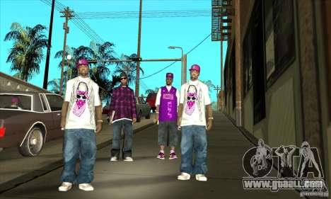 Replace all skins East Side Ballas for GTA San Andreas