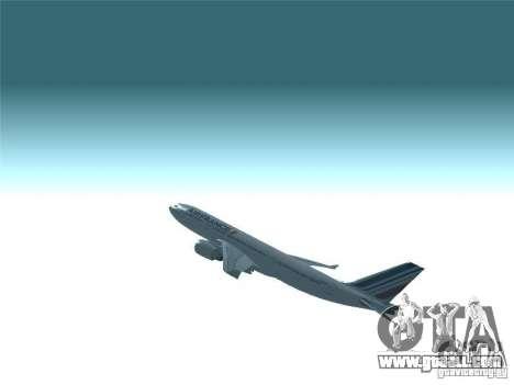 Airbus A330-200 Air France for GTA San Andreas upper view
