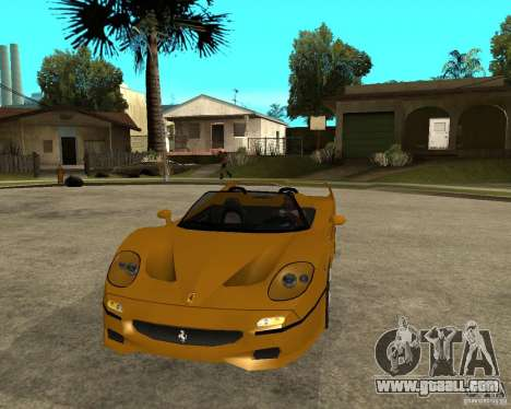 Ferrari F50 for GTA San Andreas back view