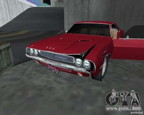 Dodge Challenger V1.0 for GTA San Andreas back view