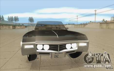 Buick Riviera GS 1969 for GTA San Andreas upper view