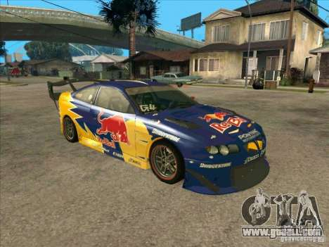 Pontiac GTO Red Bull for GTA San Andreas left view