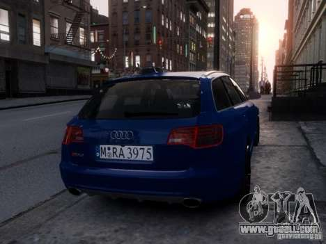 Audi RS6 Avant for GTA 4 back view