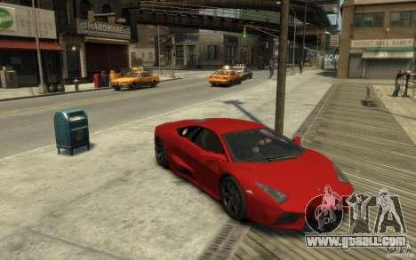 Lamborghini Reventon Coupe for GTA 4 back view