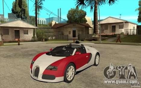 Bugatti Veyron Gran Sport 2011 for GTA San Andreas