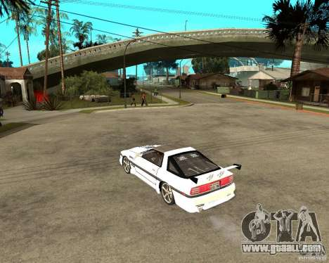Toyota Supra MK3 Tuning for GTA San Andreas back left view