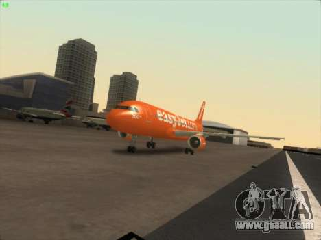 Airbus A320-214 EasyJet 200th Plane for GTA San Andreas back view