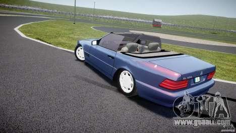 Mercedes-Benz SL500 for GTA 4 back left view