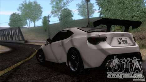 Scion FR-S 2013 for GTA San Andreas left view