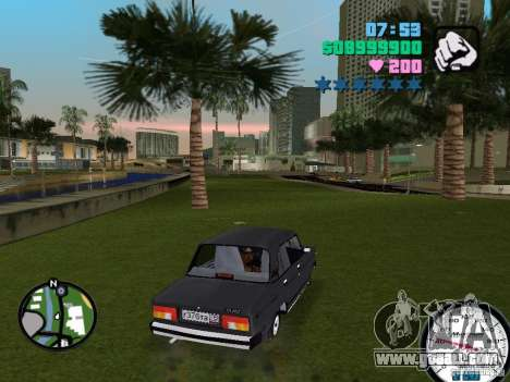 Vaz 2105 for GTA Vice City right view