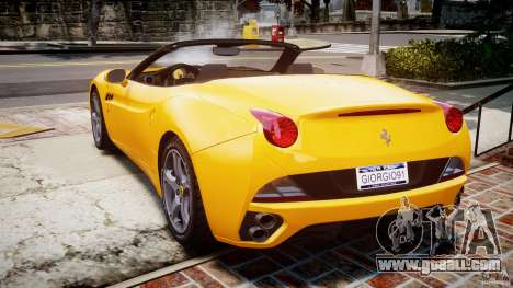 Ferrari California v1.0 for GTA 4 back left view