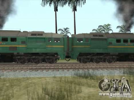 Freight locomotive Baltic States railway picture for GTA San Andreas left view