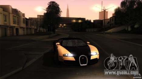 Bugatti Veyron 16.4 for GTA San Andreas bottom view
