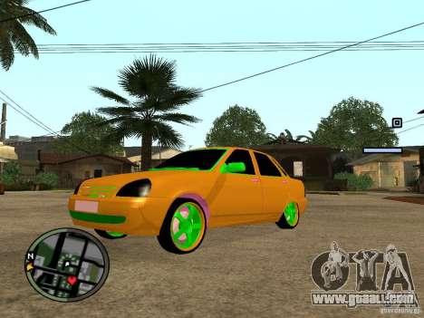 VAZ-2174 Priora Crazy Taxi for GTA San Andreas