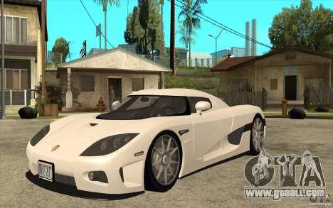 Koenigsegg CCX - Stock for GTA San Andreas