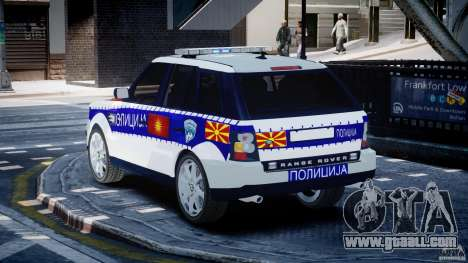 Range Rover Macedonian Police [ELS] for GTA 4 back left view
