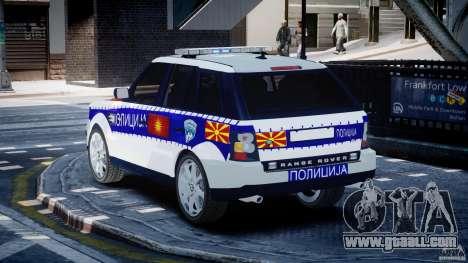 Range Rover Macedonian Police [ELS] for GTA 4 back left view