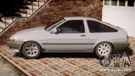 Toyota Sprinter Trueno 1986 for GTA 4 left view