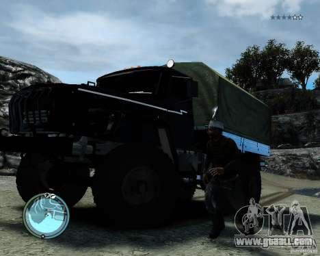 Ural 4320 for GTA 4 back view