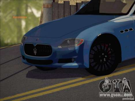 Maserati Quattroporte v3.0 for GTA San Andreas back left view