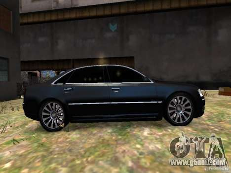 Audi A8L W12 for GTA 4 inner view