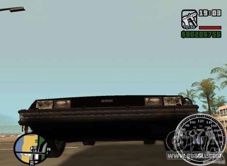 Crysis Delorean BTTF1 for GTA San Andreas back view