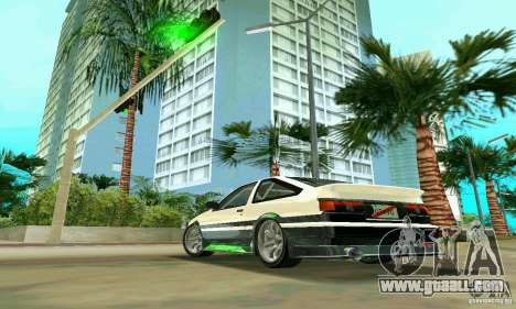 Toyota Trueno AE86 4type for GTA Vice City left view