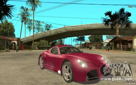 Alfa Romeo 8C GT3 RSX for GTA San Andreas back view