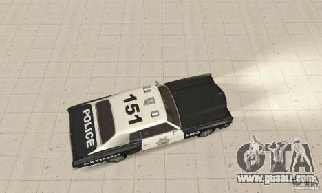 Chevrolet Monte Carlo 1970 Police for GTA San Andreas back left view