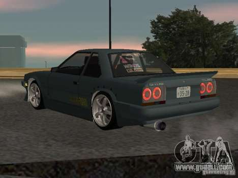 Nissan Skyline RS R30 for GTA San Andreas back view