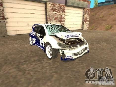 Peugeot 206 WRC from Richard Burns Rally for GTA San Andreas inner view