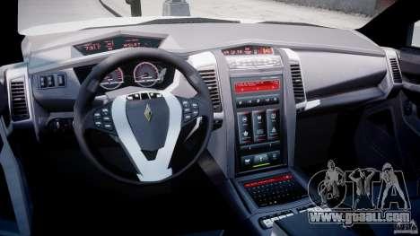 Carbon Motors E7 Concept Interceptor NYPD [ELS] for GTA 4 right view