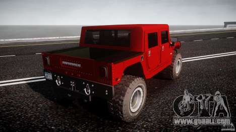 Hummer H1 4x4 OffRoad Truck v.2.0 for GTA 4 back left view