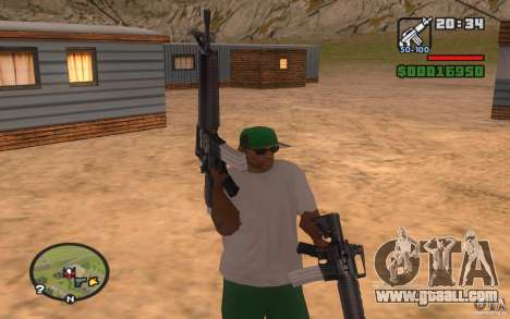 Double weapons for GTA San Andreas second screenshot