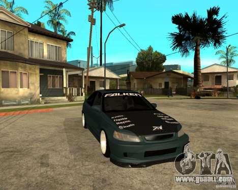 Honda Civic Coupe V-Tech for GTA San Andreas back view