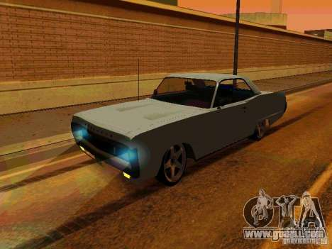 Plymouth Fury Sport 1970 for GTA San Andreas left view