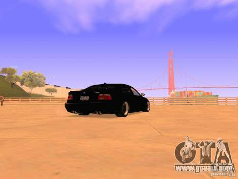 BMW M5 E39 Stanced for GTA San Andreas back left view