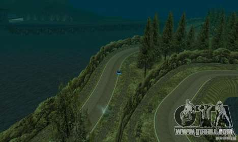 The rally route for GTA San Andreas