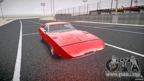 Dodge Charger Daytona 1969 [EPM] for GTA 4 back view