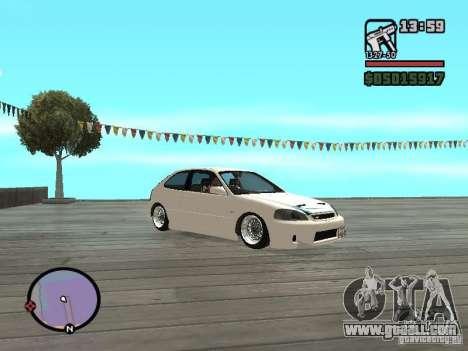 Honda Civic EK9 JDM for GTA San Andreas right view