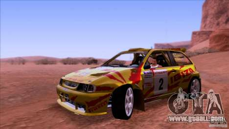 Seat Ibiza Rally for GTA San Andreas left view