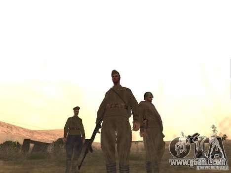 WORLD WAR II Soviet soldier skin for GTA San Andreas third screenshot