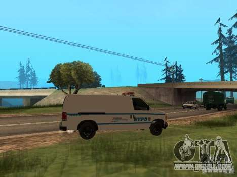 Ford E-150 NYPD Police for GTA San Andreas right view