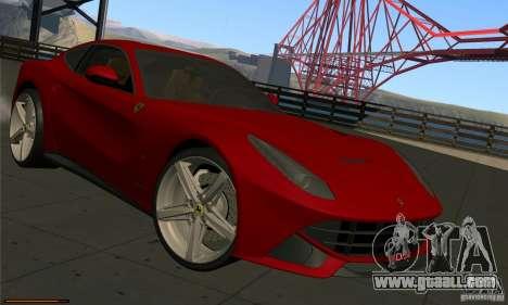 Ferrari F12 Berlinetta BETA for GTA San Andreas left view