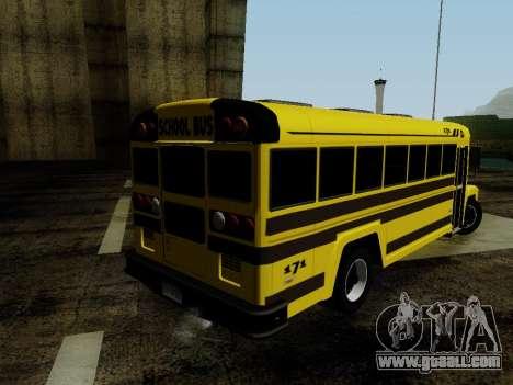 International Harvester B-Series 1959 School Bus for GTA San Andreas left view