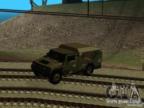 Hummer H2 Army for GTA San Andreas inner view