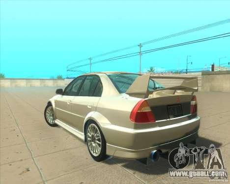 Mitsubishi Lancer Evolution VI 1999 Tunable for GTA San Andreas engine