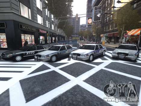 Ford Crown Victoria NYPD Auxiliary for GTA 4 inner view